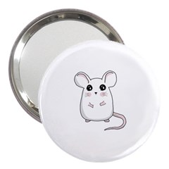 Cute Mouse 3  Handbag Mirrors by Valentinaart