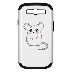 Cute Mouse Samsung Galaxy S Iii Hardshell Case (pc+silicone) by Valentinaart