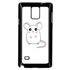 Cute Mouse Samsung Galaxy Note 4 Case (black) by Valentinaart