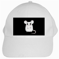 Cute Mouse White Cap by Valentinaart