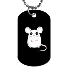 Cute Mouse Dog Tag (two Sides) by Valentinaart