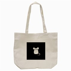 Cute Mouse Tote Bag (cream) by Valentinaart