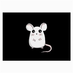 Cute Mouse Large Glasses Cloth (2 Side) by Valentinaart