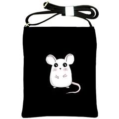 Cute Mouse Shoulder Sling Bags by Valentinaart