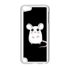 Cute Mouse Apple Ipod Touch 5 Case (white) by Valentinaart