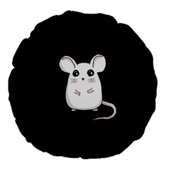Cute Mouse Large 18  Premium Flano Round Cushions by Valentinaart