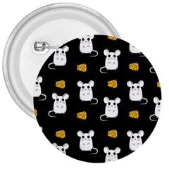 Cute Mouse Pattern 3  Buttons by Valentinaart