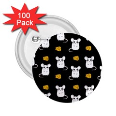 Cute Mouse Pattern 2 25  Buttons (100 Pack)  by Valentinaart