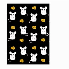 Cute Mouse Pattern Large Garden Flag (two Sides) by Valentinaart