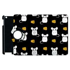 Cute Mouse Pattern Apple Ipad 3/4 Flip 360 Case by Valentinaart