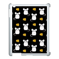 Cute Mouse Pattern Apple Ipad 3/4 Case (white) by Valentinaart