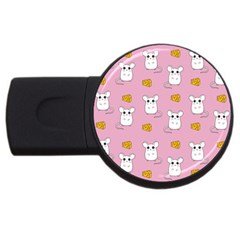 Cute Mouse Pattern Usb Flash Drive Round (2 Gb) by Valentinaart