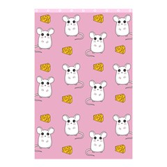Cute Mouse Pattern Shower Curtain 48  X 72  (small)  by Valentinaart