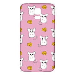 Cute Mouse Pattern Samsung Galaxy S5 Back Case (white) by Valentinaart