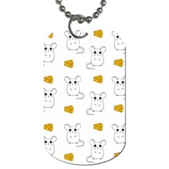 Cute Mouse Pattern Dog Tag (two Sides) by Valentinaart