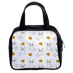 Cute Mouse Pattern Classic Handbags (2 Sides) by Valentinaart