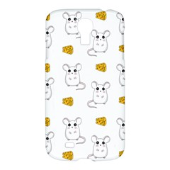 Cute Mouse Pattern Samsung Galaxy S4 I9500/i9505 Hardshell Case by Valentinaart