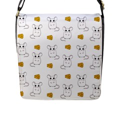 Cute Mouse Pattern Flap Messenger Bag (l)  by Valentinaart