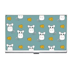 Cute Mouse Pattern Business Card Holders by Valentinaart