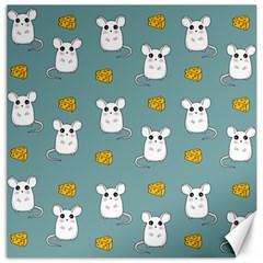 Cute Mouse Pattern Canvas 16  X 16   by Valentinaart