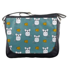 Cute Mouse Pattern Messenger Bags by Valentinaart