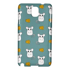 Cute Mouse Pattern Samsung Galaxy Note 3 N9005 Hardshell Case by Valentinaart