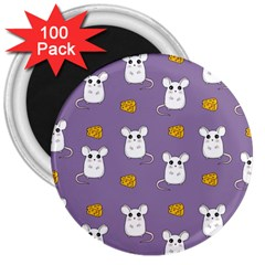 Cute Mouse Pattern 3  Magnets (100 Pack) by Valentinaart