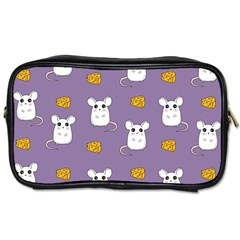 Cute Mouse Pattern Toiletries Bags 2 Side by Valentinaart