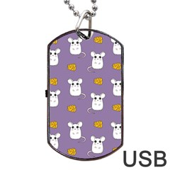 Cute Mouse Pattern Dog Tag Usb Flash (two Sides) by Valentinaart