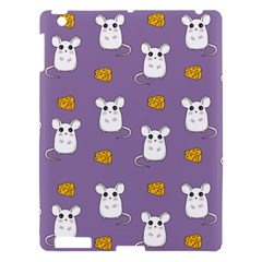 Cute Mouse Pattern Apple Ipad 3/4 Hardshell Case by Valentinaart