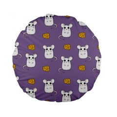 Cute Mouse Pattern Standard 15  Premium Round Cushions by Valentinaart