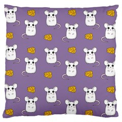 Cute Mouse Pattern Standard Flano Cushion Case (one Side) by Valentinaart