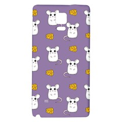 Cute Mouse Pattern Galaxy Note 4 Back Case by Valentinaart