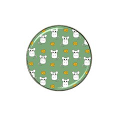 Cute Mouse Pattern Hat Clip Ball Marker by Valentinaart