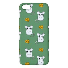 Cute Mouse Pattern Apple Iphone 5 Premium Hardshell Case by Valentinaart