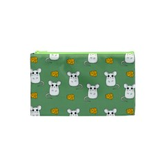 Cute Mouse Pattern Cosmetic Bag (xs) by Valentinaart