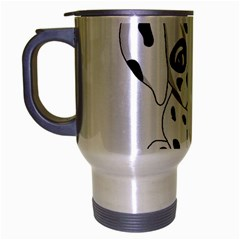 Cute Dalmatian Puppy  Travel Mug (silver Gray) by Valentinaart