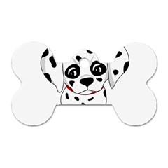 Cute Dalmatian Puppy  Dog Tag Bone (one Side) by Valentinaart