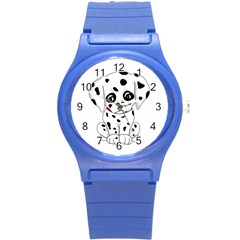 Cute Dalmatian Puppy  Round Plastic Sport Watch (s) by Valentinaart