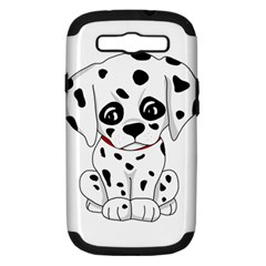 Cute Dalmatian Puppy  Samsung Galaxy S Iii Hardshell Case (pc+silicone) by Valentinaart