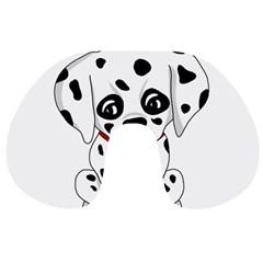 Cute Dalmatian Puppy  Travel Neck Pillows by Valentinaart