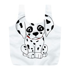 Cute Dalmatian Puppy  Full Print Recycle Bags (l)  by Valentinaart