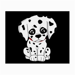Cute Dalmatian Puppy  Small Glasses Cloth (2 Side) by Valentinaart