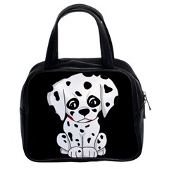 Cute Dalmatian Puppy  Classic Handbags (2 Sides) by Valentinaart