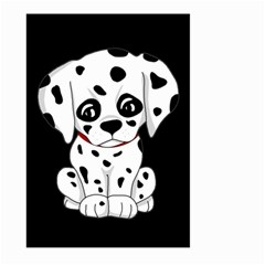 Cute Dalmatian Puppy  Large Garden Flag (two Sides) by Valentinaart