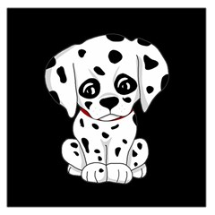 Cute Dalmatian Puppy  Large Satin Scarf (square) by Valentinaart