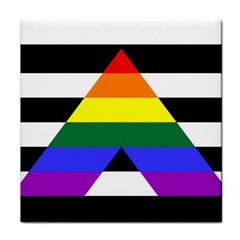 Straight Ally Flag Tile Coasters by Valentinaart