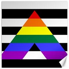 Straight Ally Flag Canvas 16  X 16   by Valentinaart