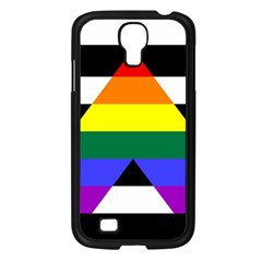 Straight Ally Flag Samsung Galaxy S4 I9500/ I9505 Case (black) by Valentinaart