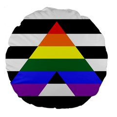Straight Ally Flag Large 18  Premium Flano Round Cushions by Valentinaart
